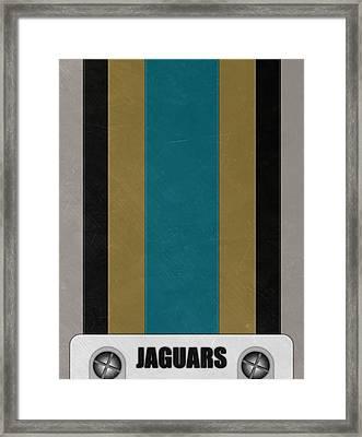 Jacksonville Jaguars Helmet Art Framed Print