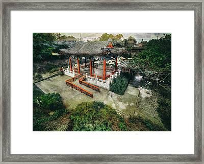 Framed Print featuring the photograph Jade Garden by Wayne Sherriff