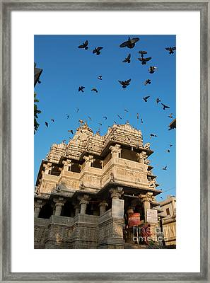 Framed Print featuring the photograph Jagdish Temple by Yew Kwang