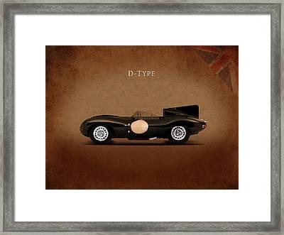 Jaguar D Type Framed Print