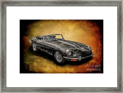 Jaguar E-type Framed Print by Adrian Evans