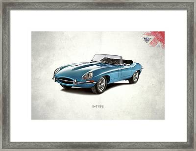 Jaguar E-type Framed Print