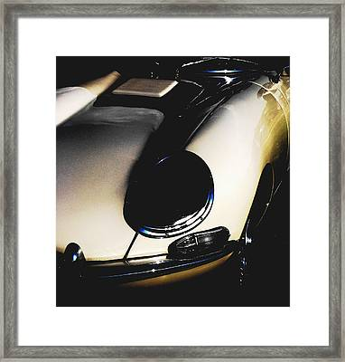 Jaguar In The Night Framed Print by Angela Davies