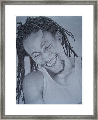 Jah Cure Framed Print by Jeffrey Samuels