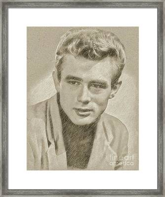 James Dean Hollywood Legend Framed Print by Frank Falcon
