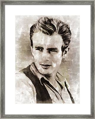 James Dean Hollywood Legend Framed Print