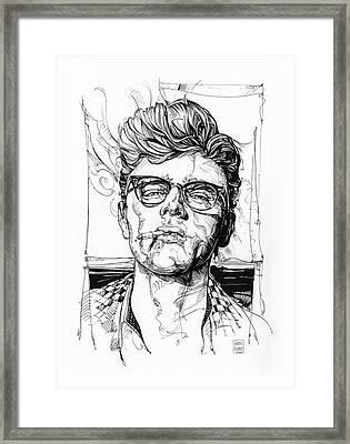 James Dean Inking Framed Print