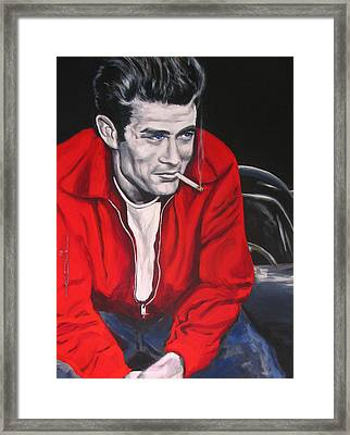 James Dean Put His Picture In A Picture Show Framed Print by Eric Dee