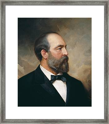 James Garfield Framed Print by Ole Peter Hansen Balling