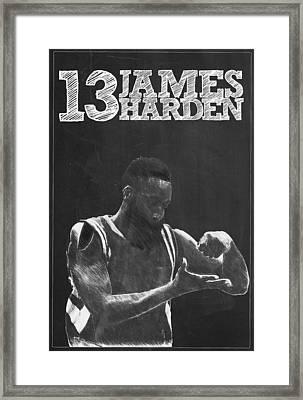 James Harden Framed Print by Semih Yurdabak