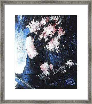 James Hetfield Framed Print by Brian Carlton