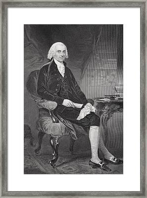 James Madison 1751-1836. Fourth Framed Print by Vintage Design Pics