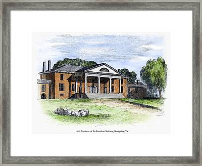 James Madison: Montpelier Framed Print by Granger