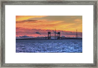 James River Bridge Framed Print by Jerry Gammon