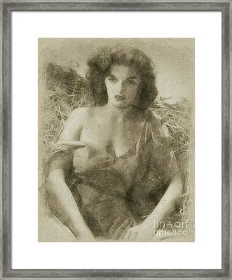 Jane Russell Hollywood Actress Framed Print by Frank Falcon