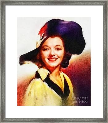 Janet Gaynor, Vintage Hollywood Actress Framed Print by John Springfield