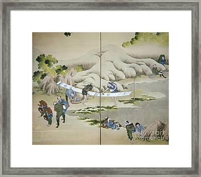 Japan: Cotton Processing Framed Print by Granger