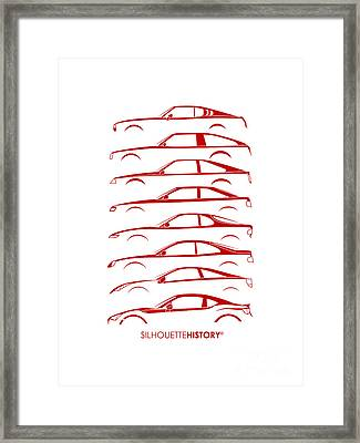 Japanese Coupe Silhouettehistory Framed Print