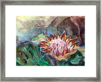 Japanese Flower Arrangement Framed Print by Mindy Newman