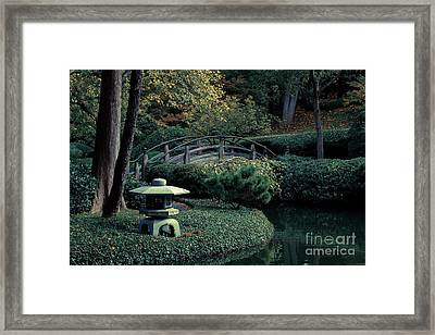 Framed Print featuring the photograph Japanese Garden In Summer by Iris Greenwell