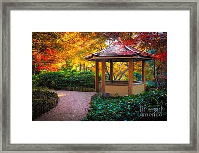 Japanese Gazebo Framed Print by Inge Johnsson