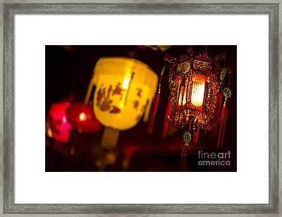 Japanese Lanterns 6 Framed Print