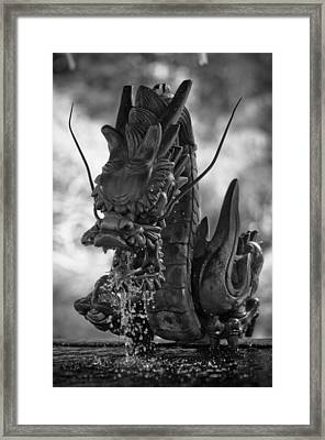 Japanese Water Dragon Framed Print by Sebastian Musial