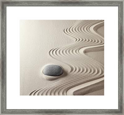 Japanese Zen Garden Framed Print