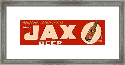 Jax Beer Of New Orleans Framed Print