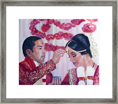 Jaya's Friends Framed Print