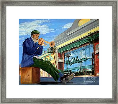 Jazz At The Orleans Framed Print by Vicki  Housel