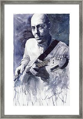 Jazz Guitarist Rene Trossman  Framed Print