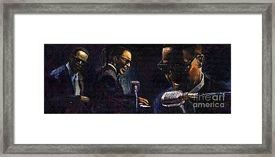 Jazz Ray Charles Framed Print by Yuriy  Shevchuk