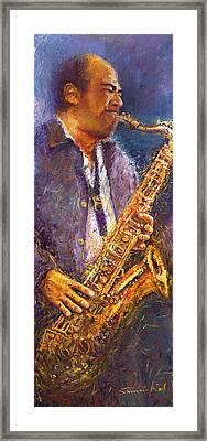 Jazz Saxophonist Framed Print