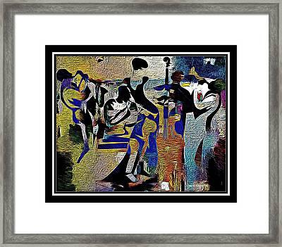 Jazzy Night  Framed Print by Lynda Payton