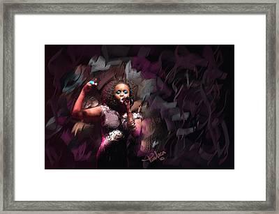 Jc Lady Sing Lady Sing Framed Print by Donald Pavlica