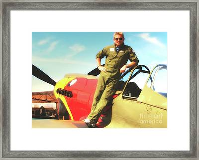 Jc Paul And P-40 Parrothead Reno Air Races 2010 Framed Print by Gus McCrea