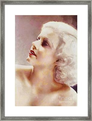 Jean Harlow By Sarah Kirk Framed Print
