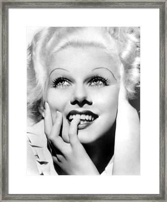 Jean Harlow, Mgm, Ca. Early 1930s Framed Print