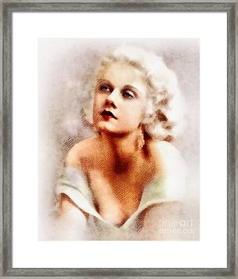 Jean Harlow, Vintage Actress By John Springfield Framed Print