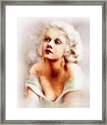 Jean Harlow, Vintage Actress By John Springfield Framed Print