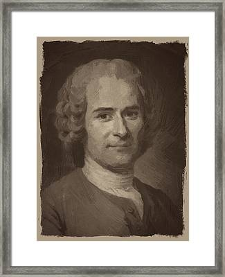 Jean Jacques Rousseau Framed Print by Afterdarkness