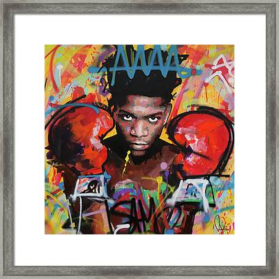Jean Michel Basquiat Framed Print by Richard Day