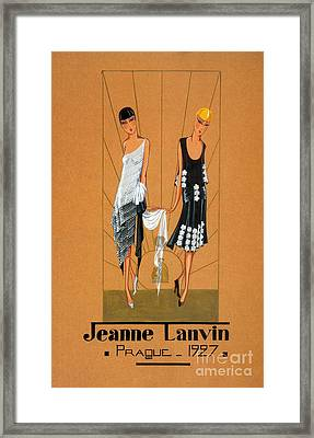 Jeanne Lanvin Design, 1927 Framed Print by Science Source