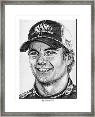 Jeff Gordon In 2010 Framed Print by J McCombie