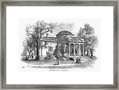 Jefferson: Monticello Framed Print by Granger