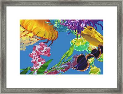Jelly Undulations Framed Print
