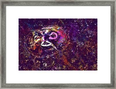 Framed Print featuring the digital art Jellyfish North Sea Beach Mollusk  by PixBreak Art