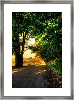 Jenne Farm - Autumn In New England Framed Print by Joann Vitali