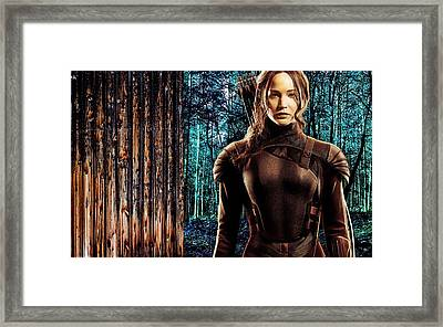 Jennifer Lawrence Collection Framed Print by Marvin Blaine